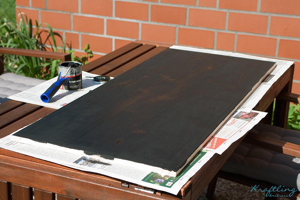 Tafelfarbe auf Brett
